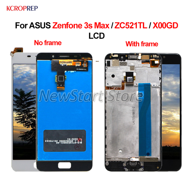 """Per ASUS Zenfone 3S Max ZC521TL Display LCD Touch Screen Digitizer Assembly 100% Nuovo 5.2 """"Per ASUS Zenfone 3S Max X00GD lcd"""