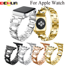 Bling Bands For Apple Watch Band Stainless Steel Adapter for Watch Series Edition 42MM 38MM Watchband Wristband Sport Strap 2018 hoco 42mm watchband steel stainless metal strap classic buckle adapter watch bands for apple watch