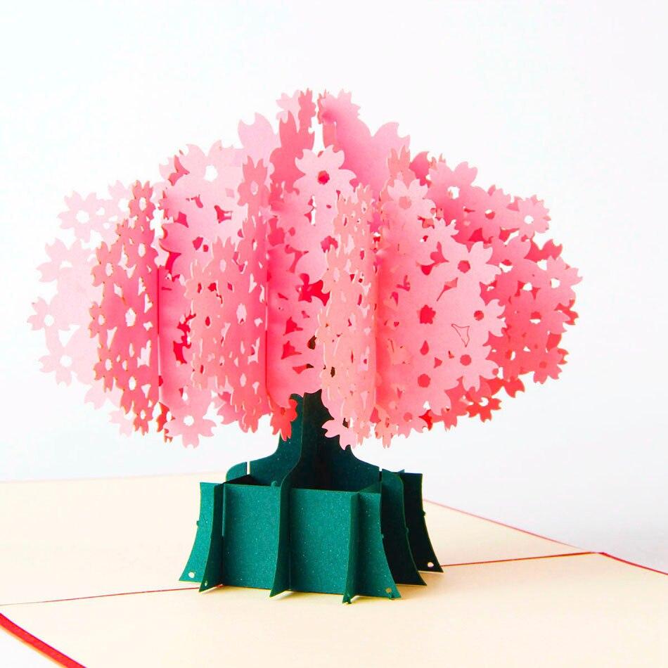3d Pop Up Greeting Gift Handmade Origami Kraft Paper Laser Cut