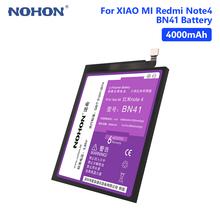 NOHON BN41 Lithium 4000mAh Rechargeable Battery For Xiaomi Redmi Note 4 4X MTK Helio X20 Phone Batteries Free Tools
