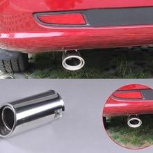 DWCX 2x63 мм 304 Нержавеющая сталь хромированный автомобильный выхлопной глушитель задний наконечник трубы для Subaru Forester 2008 2009 2010 2011 2012