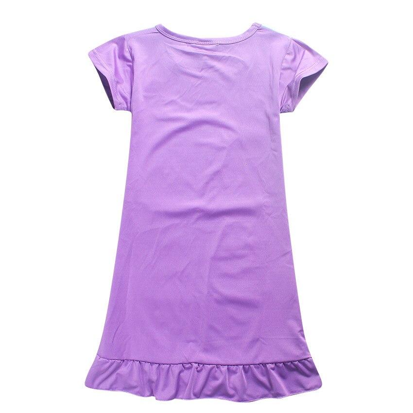 Для детей футболки для девочек модное платье Моана Костюмы vaiana принцессы Платья для женщин пижамы Ночные рубашки для девочек пижамы От 4 до 10 лет