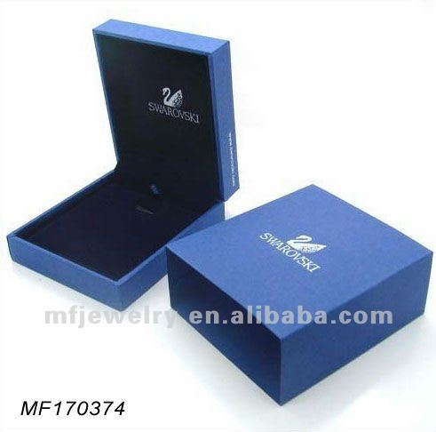 Classic Blue Velvet Necklace Earring set box Jewelry Pendant Packaging wedding gift decorative luxury jewelry - Mingfeng Fashion Mall store