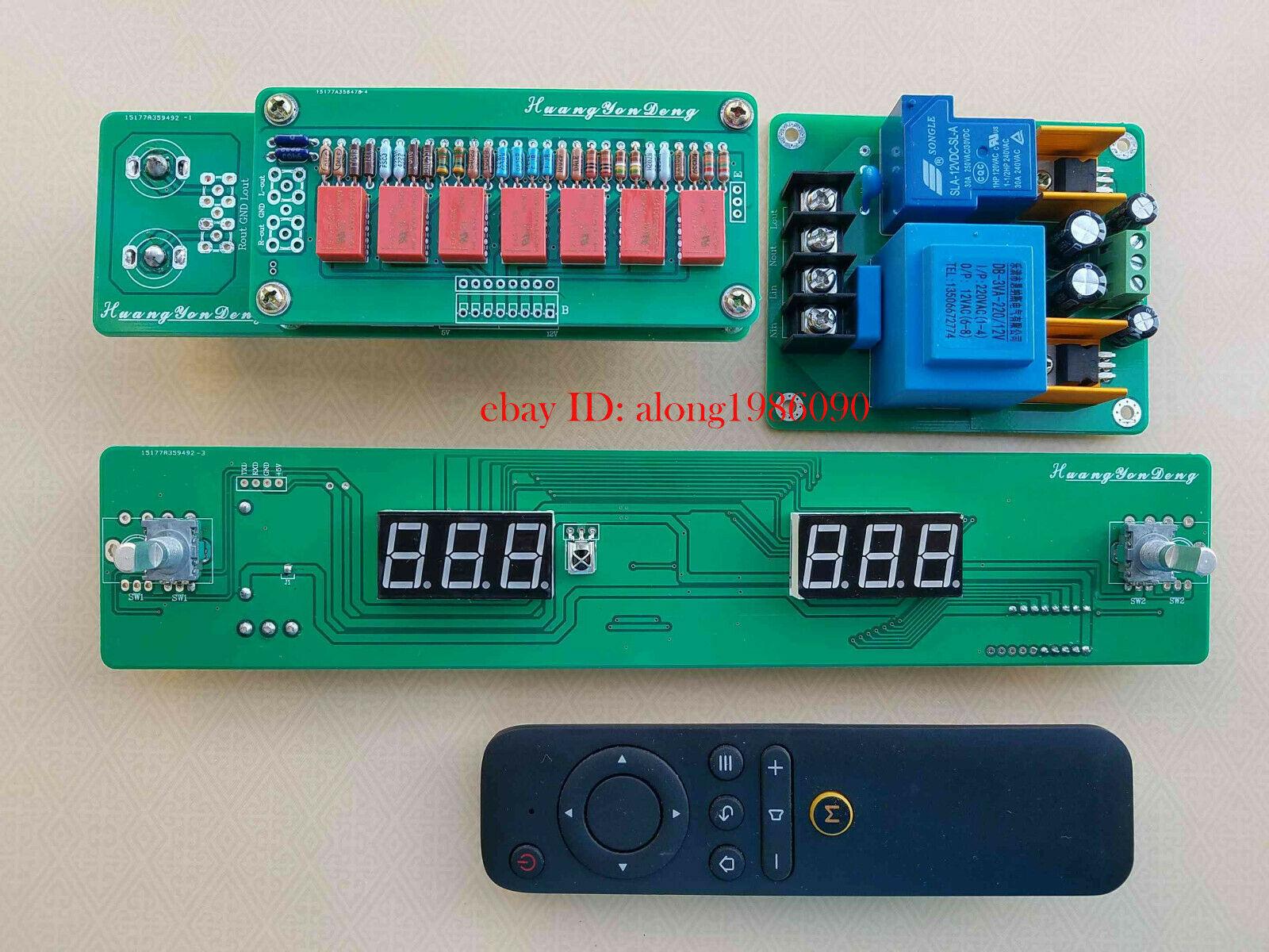 GZLOZONE Hiend 128 Steps Remote Volume Control Board Relay Pure Resistor Shunt L14 24
