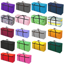 цена на Waterproof Super Large Oxford Woven Bags Moving Extra Large Portable Canvas Bags Luggage Large Travel(120L)