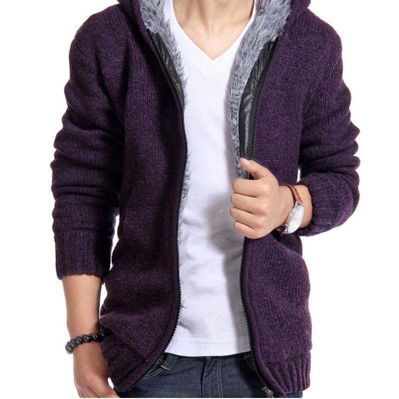 2016-Autunm-Winter-Fur-Lining-Thicken-Hoodies-Men-Casual-Zipper-Solid-Warm-Moleton-Masculino-MZM179 (3)