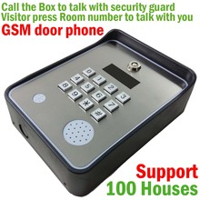 Wireless GSM audio Door Phone Intercom and security alarm for community security support 100 house