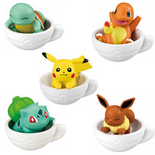 5pieces/set Cup figures pika Squirtle Bulbasaur anime action toy figures model toy Car decoration toy KEN HU STORE pokemones