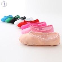 Çocuk dans ayakkabıları yumuşak tuval kızlar dans ayakkabıları yüksek kaliteli dans terlik dans bale ayakkabıları