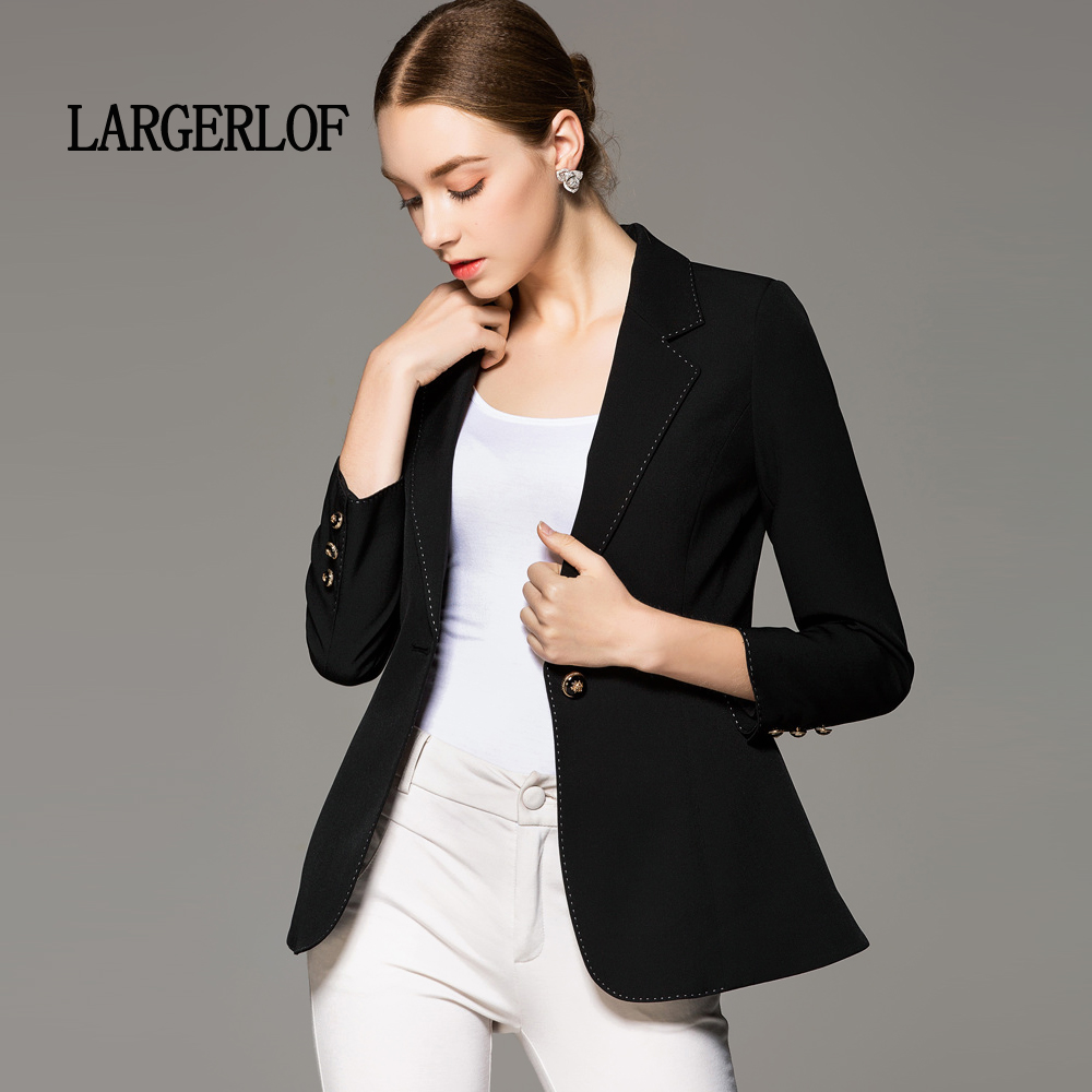 LARGERLOF Ladies Blazer Slim Fit Simple Autumn Women Blazer Plus Size Women Winter Long Blazer Women BR50012