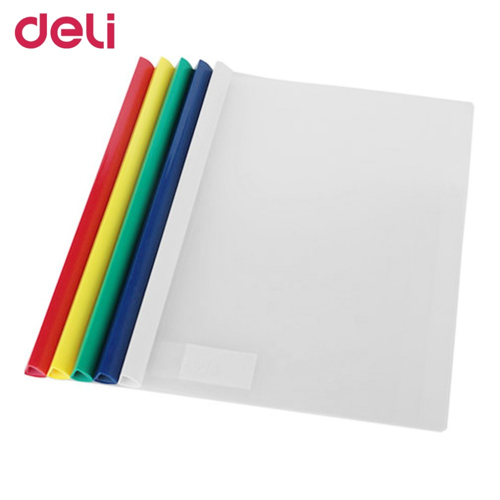 Deli 5901 Rod Clamp Waterproof Transparent spine bar File Folder Large Capacity For Sorting Documents Powerful School Supplies