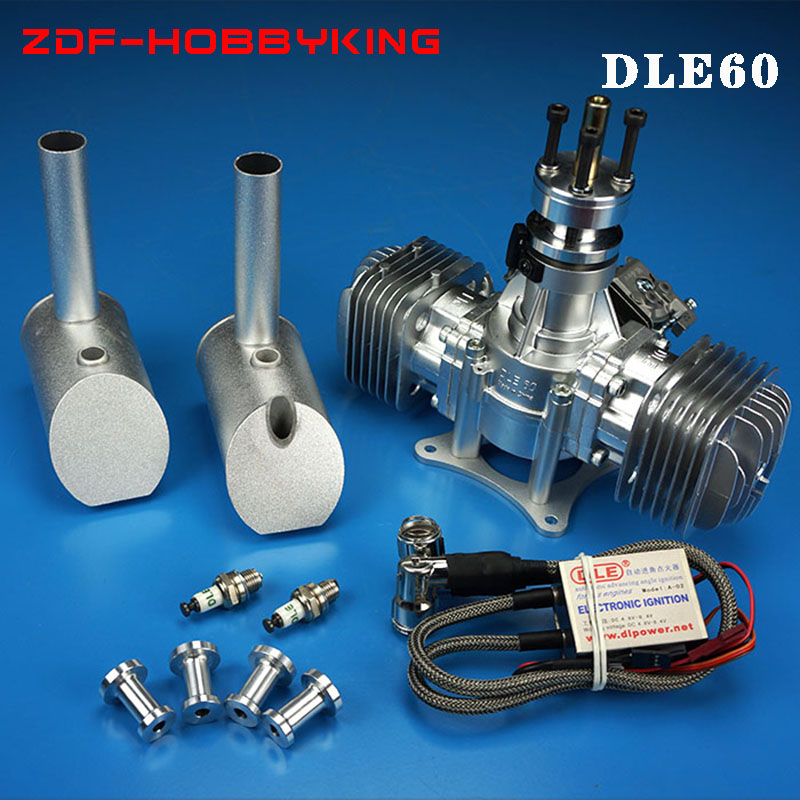 Brand DLE 60 60CC Twin Gas Engine for RC airplane hot sell,DLE60,DLE-60,DLE dle60 crankshaft connecting rod for dle engine parts connector