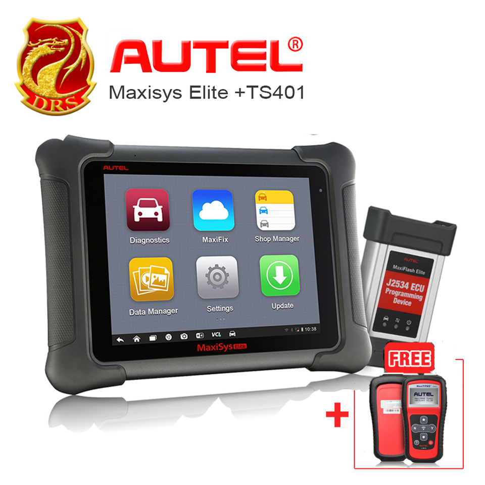 Autel MaxiSys Elite Faster Than MS908P Car Scanner Diagnostic ECU Programming +MaxiTPMS TS401 TPMS Diagnostic & Service tool