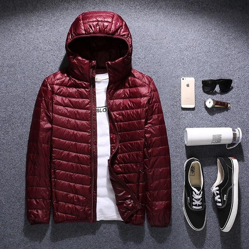 Zima płaszcz puchowy męskie plus rozmiar w dół kurtki 2017 mężczyźni odzież wierzchnia bardzo duży czarny czerwony niebieski M L XL 2XL 3XL 4XL 5XL 6XL 50 kg 145 kg w Kurtki puchowe od Odzież męska na  Grupa 2
