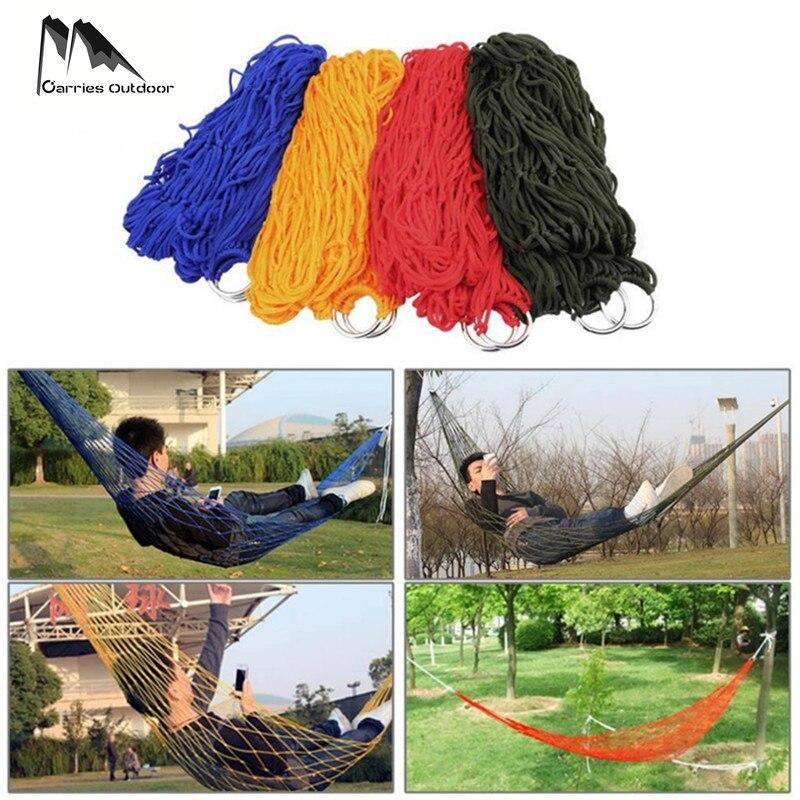 ARRIES Портативный одного человека нейлоновая сетка гамак парашют Кемпинг Сад выживания висит кровать Hamac Hangmat Hamak 200*80 см