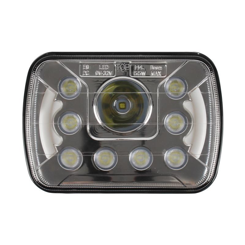 2PCS  LED replacement lights sealed beam 5x7 45w Off road Led driving Light Led Headlight