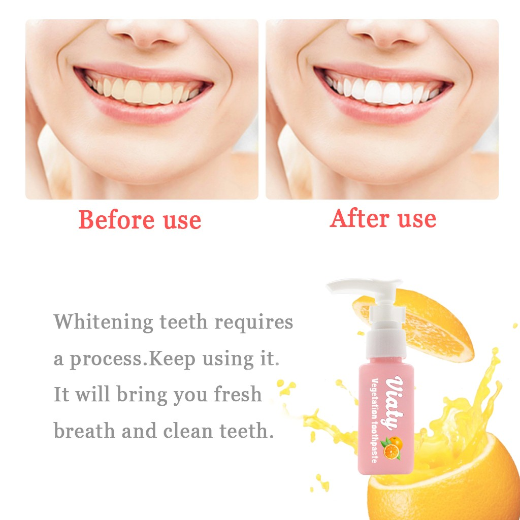Tooth Care Natural Stain Removal Whitening Toothpaste Stain Removal Whitening Toothpaste Fight Bleeding Gums Orange flavor  Y711(China)