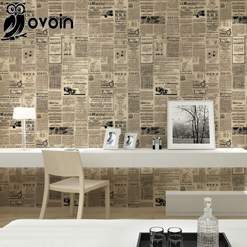 vintage english letter wall paper newspaper wallpaper old newsprint paper roll for living quarters decor black