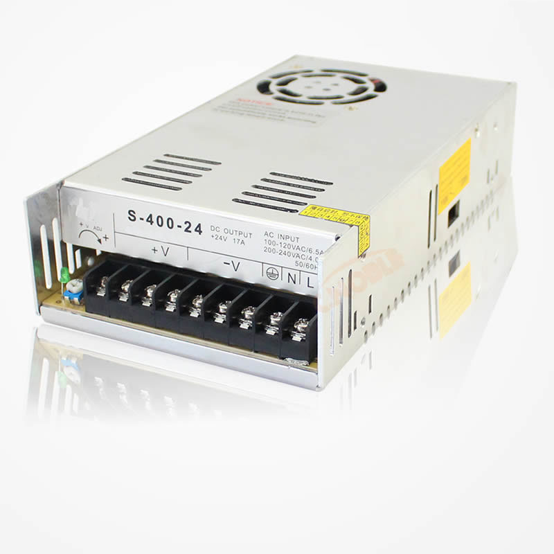 400W 24V 16.6A Single Output Switching power supply AC to DC SMPS  S-400-24 145w 24v 6a single output switching power supply for led strip light ac to dc smps