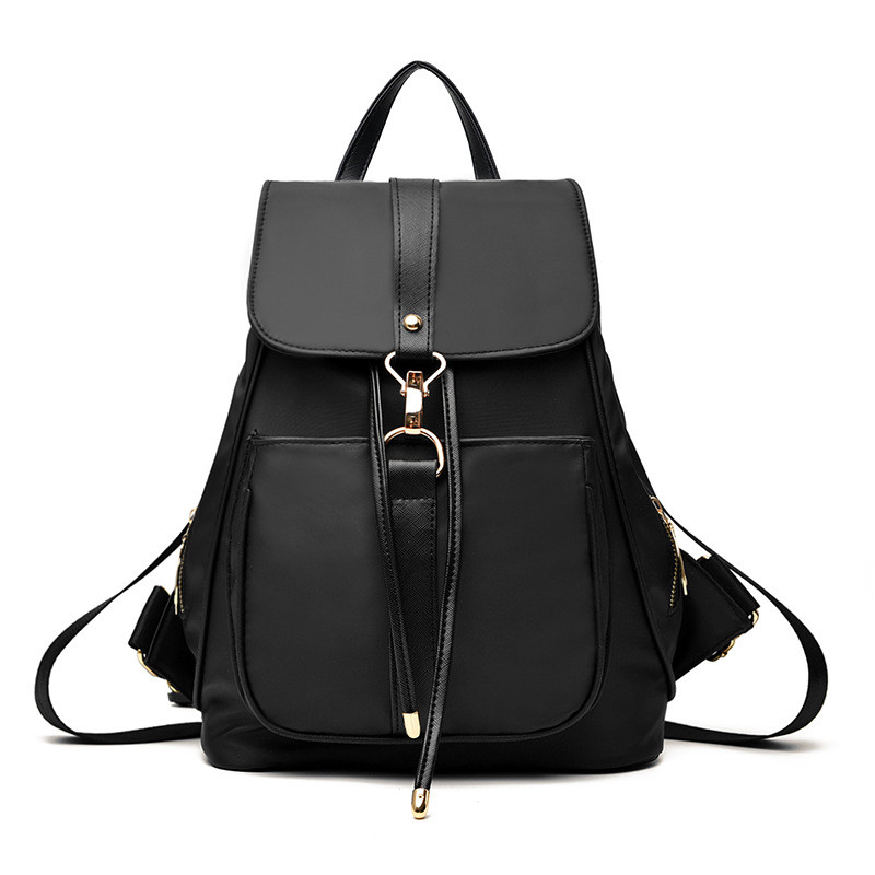 Women Backpack PU Leather Black Shoulder School Bags For Teenagers Girls Female Casual Travel Bags Pack