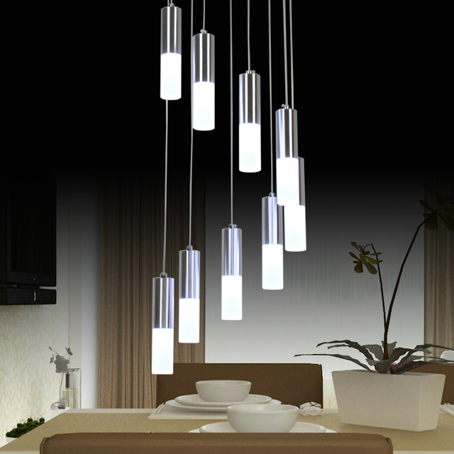 Modern Led Chandelier Lighting Dining Room Fixture Diy Simple Lamp Res Acrylic Living Home Office
