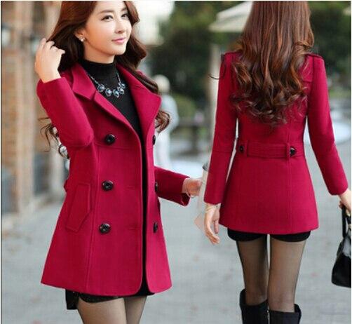 8a339d230131 2016 otoño invierno mujeres abrigos de lana para mujer delgada de la ...