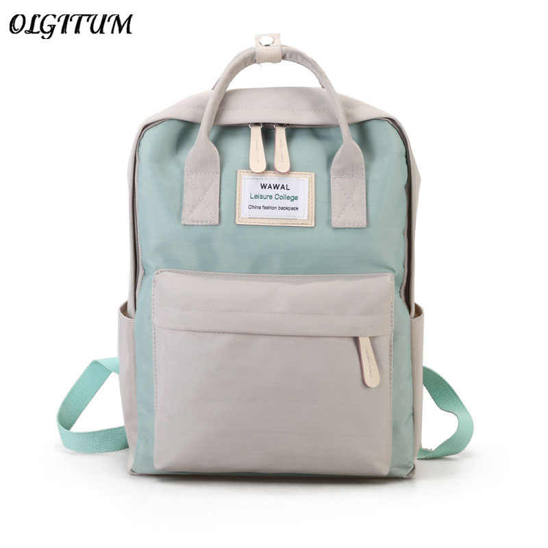 Cute Canvas fashion Backpack female backpack design for girls leisure travel school simple personality luggage