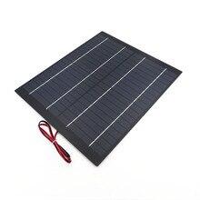 В 18 в солнечная панель мини ПЭТ поликристаллический 5 Вт 10 Вт 20 Вт PV модуль заряда для В 12 в зарядное устройство 5 10 20 Вт