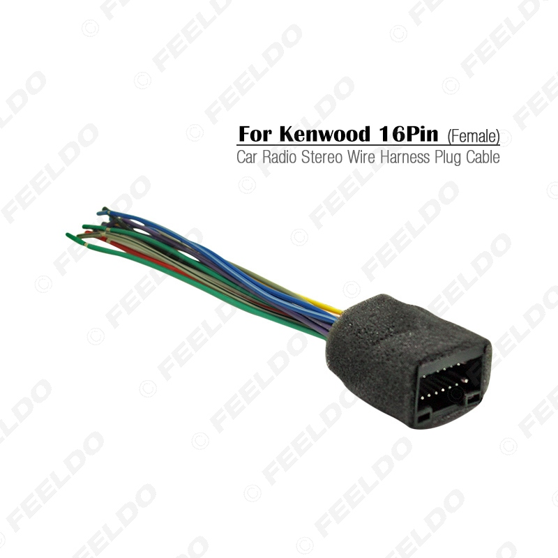 FEELDO Car Radio Stereo Wire Harness Plug Cable For Kenwood 16pin