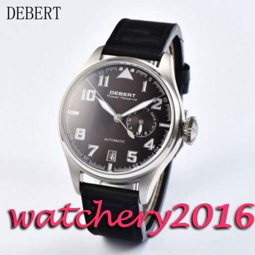 Casual 42mm Debert black dial date adjust Power Reserve Automatic movement Men's Watch цена и фото