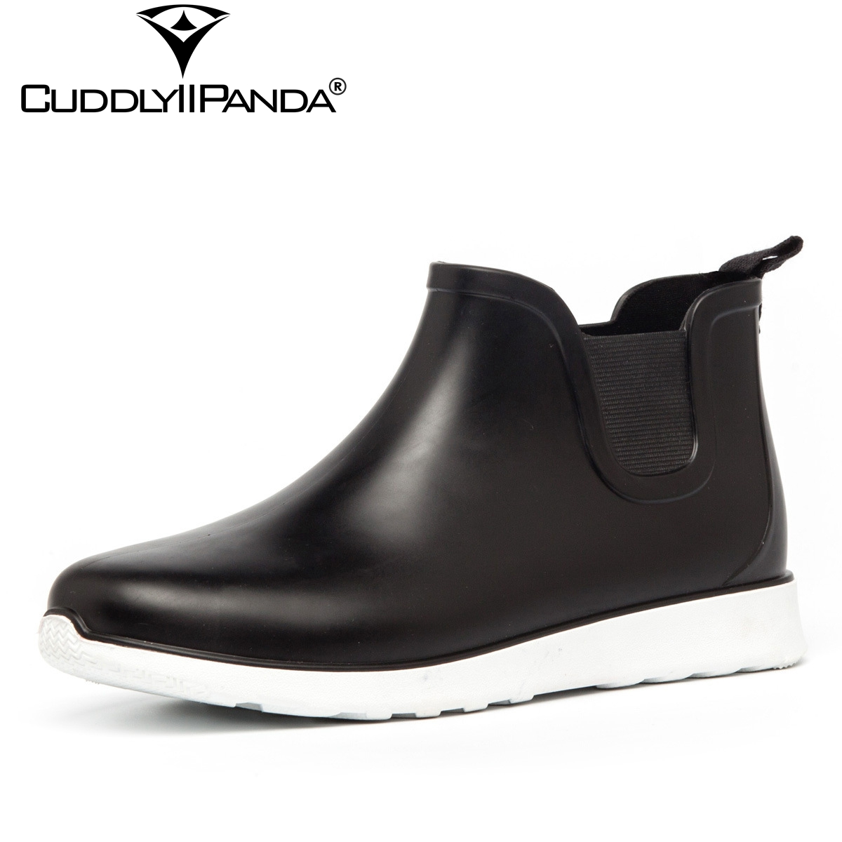 Spring And Summer Men Short Tube Rain Boots Ankle Rubber Boot Elastic Band Non-slip Waterproof Rainday Water Shoes Men's Shoes