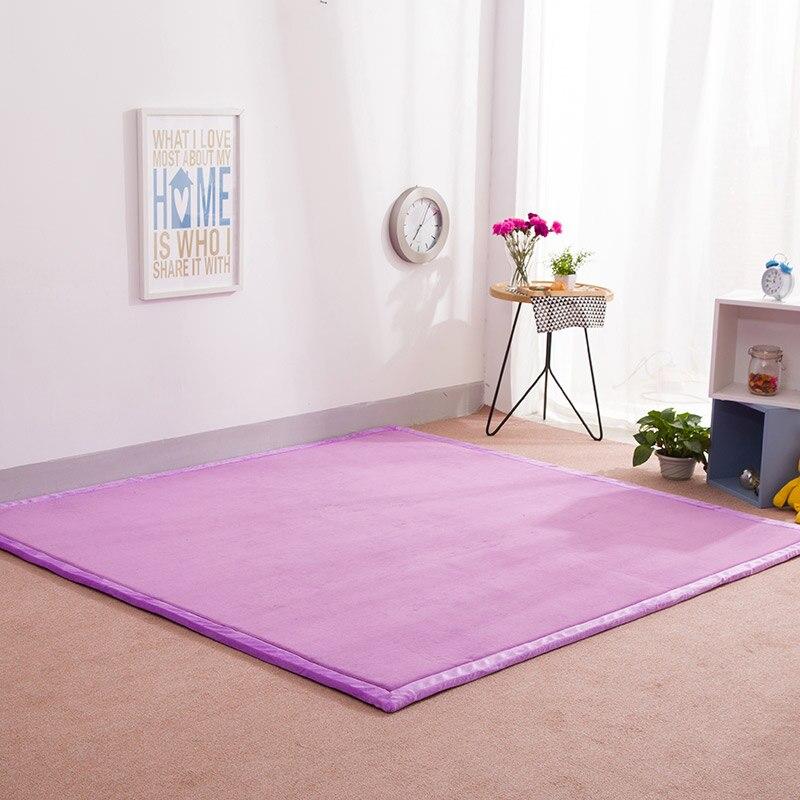 Infant Shining Home Rug Children Game Mat Thickening Coral Fleece Baby Crawling Carpet Mats Tatami Climbing