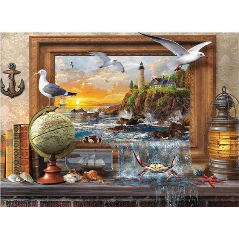 NEW Globe grand scenery 5d Diy diamond painting full square/Round mazayka mosaic diamond embroidery cross-stitch K46
