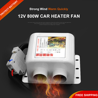 12V Car Heater Fan 800W Portable Electric Heaters Automatic Warmer Heated Seat Window Defroster Demister Vehicle Heating Auto