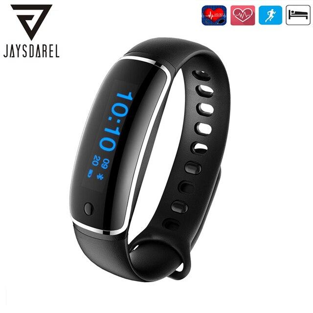 LYNWO M4 Heart Rate Blood Pressure Monitor Smart Watch OLED Screen Waterproof IP