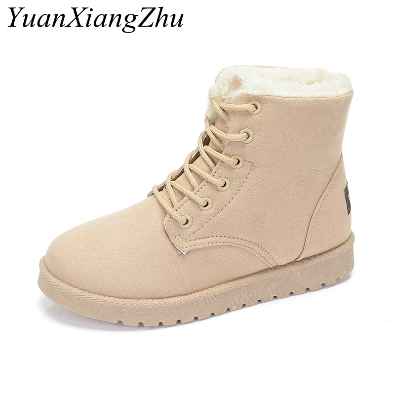 2019 New Women Boots Winter Warm Snow Boots Women Botas Mujer Lace Up Fur Ankle Boots Female Winter Warm Fur Plush Insole Shoes zorssar 2019 women s shoes winter plush women snow boots cow suede leather flat ankle boots female warm fur insole botas mujer