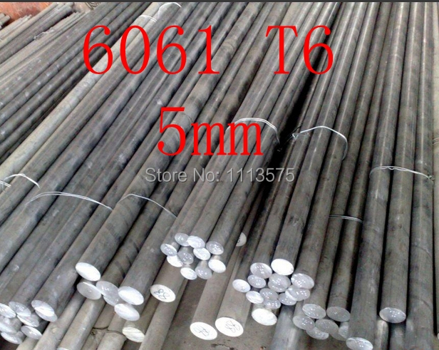 5mm 6061 T6 al aluminium solid round bar rod