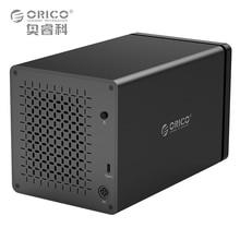 """ORICO Herramienta Gratuita NS400C3 3.5 """"4 Bahía Tipo-c UASP Soporte Dock Para Disco Duro 40 TB USB3.1 5 Gbps con 12V6. 5A Adaptador Caso del Recinto de HDD"""