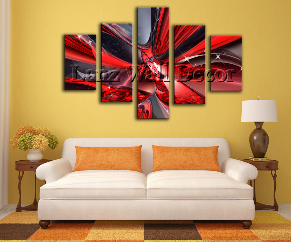 No wooden frame not ready to hang art canvas print abstract oil ...