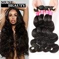 Belleza 10A Brasileño Virgin Hair Body Wave 4 Bundles Queen Sexay Visón Pelo Brasileño Onda Del Cuerpo del pelo Armadura Brasileña Del Pelo paquetes