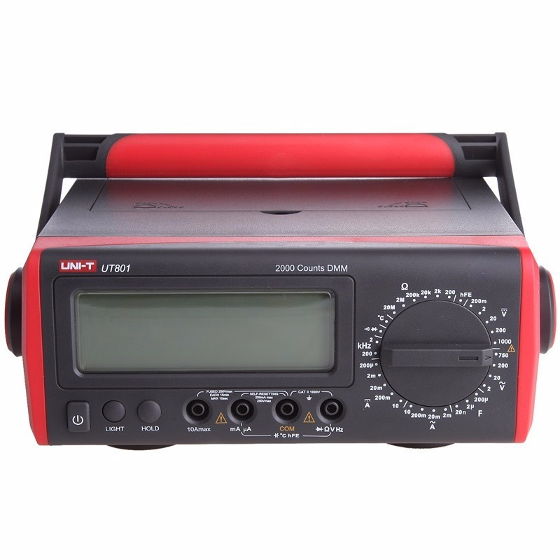<font><b>UNI</b></font>-<font><b>T</b></font> <font><b>UT801</b></font> LCD Bench Type Digital multimeters 1000V 10A Volt Amp Ohm Capacitance Hz Tester High-Accuracy image