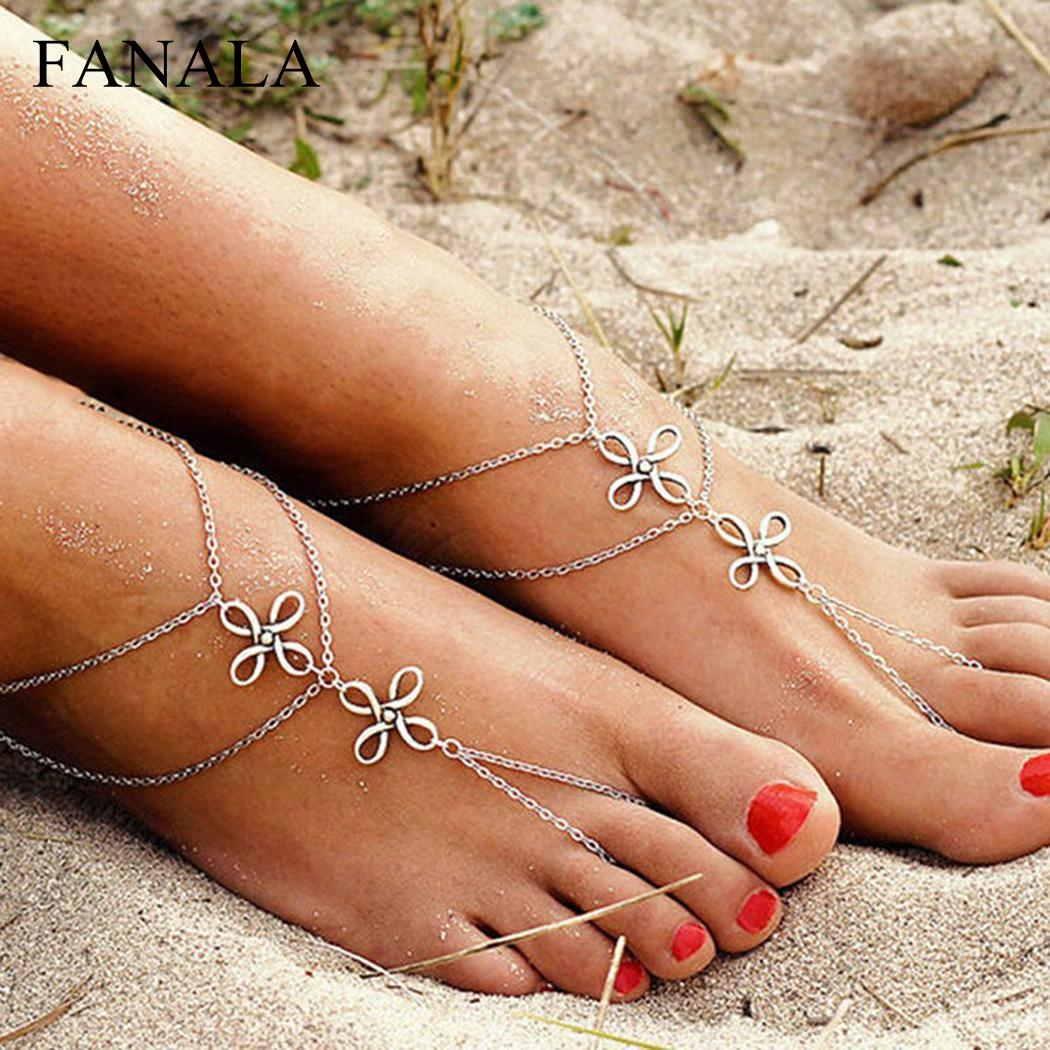 Toe Women Multi Layers Beach Barefoot Ankle Jewelry Chain