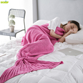 DEKOP Mermaid Blanket Adult Throw Knitted Weighted Blankets For Beds Fluffy Soft Summer Blanket Pink Blankets Home Textile