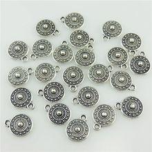 16 шт 20404 винтажный, из серебряного сплава плоская задняя часть Мини Круглая филигрань солнце символ кулон