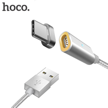 HOCO USB Type-C Cable LED Magnetic Wire Data Charger Phone Cable Fast Charging 2.4A For Samsung Galaxy S8 S8 Plus Magnet Adapter