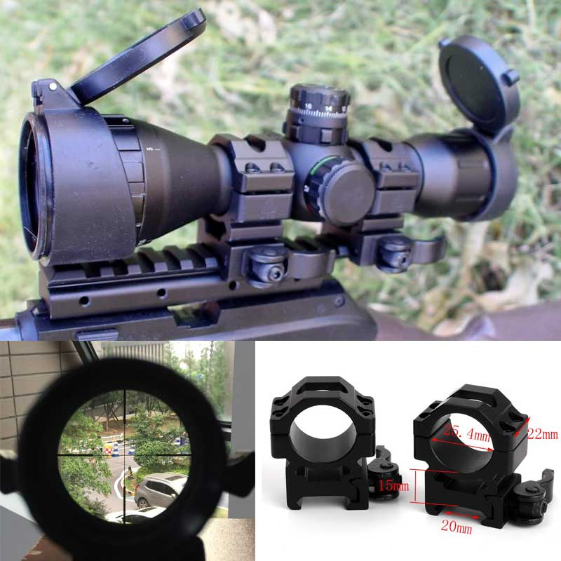 Hunting Optical 3-9x32 AO 1inch Tube Mil-dot Compact Riflescope With Sun Shade and QD Rings Tactical Rifle Scope Free s leapers utg 3 9x32 aolmq compact mil dot reticle hunting optics riflescopes locking w sun shade