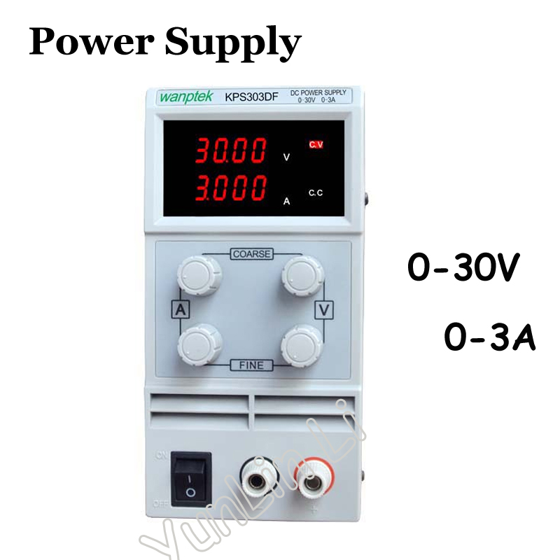 High Precision Adjustable Digital DC Power Supply mA 0~30V 0~3A for scientific research service Laboratory KPS303DF kps3020d high precision adjustable digital dc power supply 30v 20a for scientific research laboratory switch dc power supply