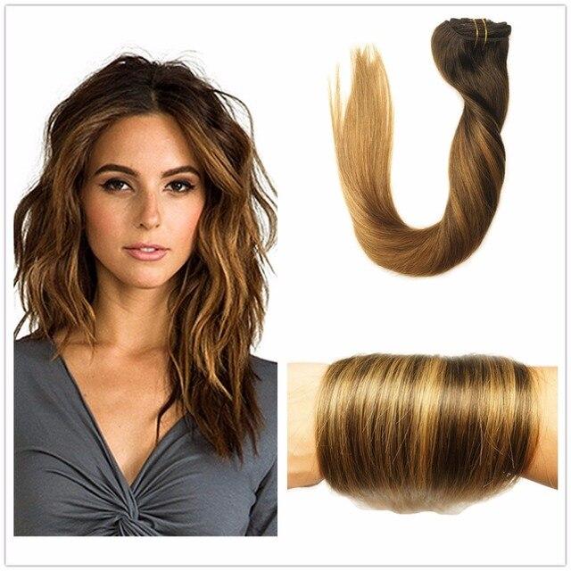couleur 2 2 6 brun fonc ombre balayage caramel blonde faits saillants clip dans les cheveux. Black Bedroom Furniture Sets. Home Design Ideas