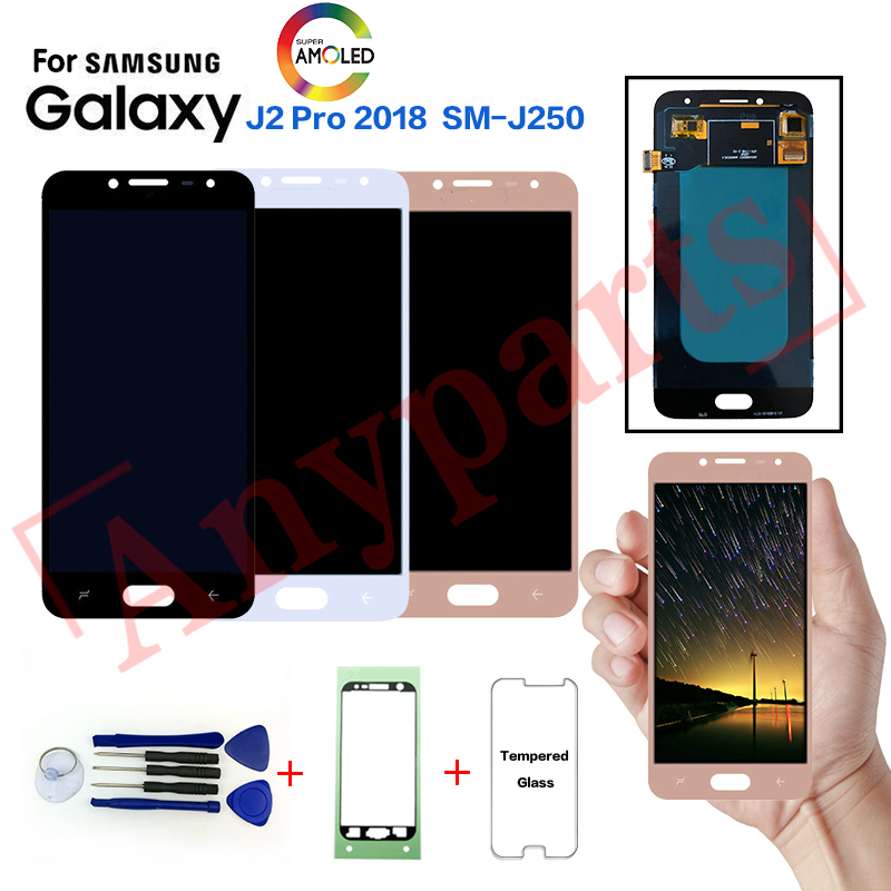 AMOLED For Samsung J2 Pro J250 SM J250F display lcd screen replacement for samsung J2 2018