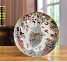 Equatorial Jungle Series Bone China Flat Plate Fruit Salad Dishware